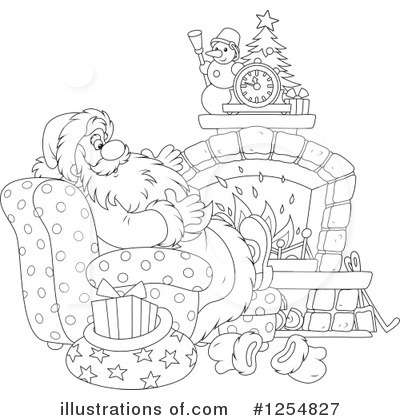 Fireplace Clipart #1254827 by Alex Bannykh