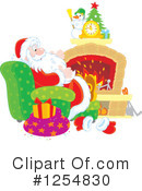 Santa Clipart #1254830 by Alex Bannykh