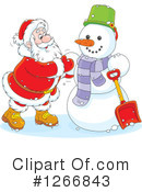 Royalty-Free (RF) Santa Clipart Illustration #1266843