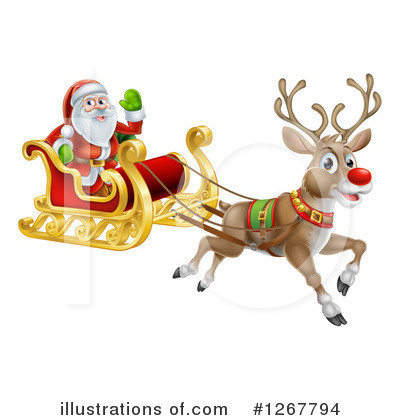 Santa Clipart #1267794 by AtStockIllustration