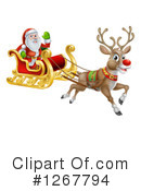 Royalty-Free (RF) Santa Clipart Illustration #1267794
