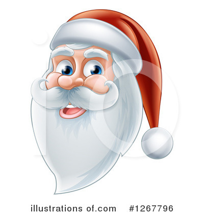 Royalty-Free (RF) Santa Clipart Illustration by AtStockIllustration - Stock Sample #1267796