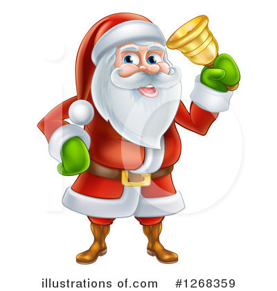 Santa Clipart #1268359 by AtStockIllustration