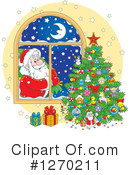Santa Clipart #1270211 by Alex Bannykh