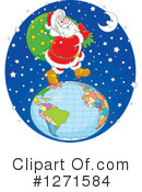 Royalty-Free (RF) Santa Clipart Illustration #1271584
