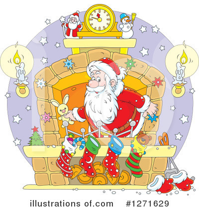 Santa Clipart #1271629 by Alex Bannykh