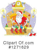 Royalty-Free (RF) Santa Clipart Illustration #1271629