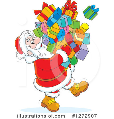 Santa Clipart #1272907 by Alex Bannykh