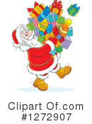 Royalty-Free (RF) Santa Clipart Illustration #1272907