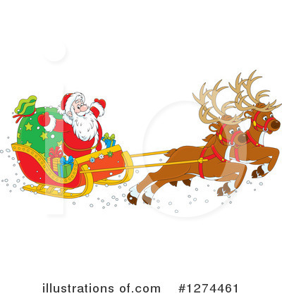 Royalty-Free (RF) Santa Clipart Illustration by Alex Bannykh - Stock Sample #1274461