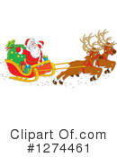 Royalty-Free (RF) Santa Clipart Illustration #1274461