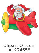 Royalty-Free (RF) Santa Clipart Illustration #1274558