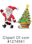 Royalty-Free (RF) Santa Clipart Illustration #1274561