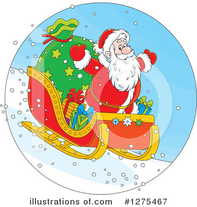 Santa Clipart #1275467 by Alex Bannykh