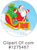 Royalty-Free (RF) Santa Clipart Illustration #1275467
