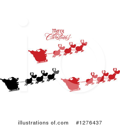 Royalty-Free (RF) Santa Clipart Illustration by Hit Toon - Stock Sample #1276437