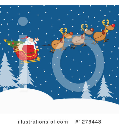 Santa Clipart #1276443 by Hit Toon