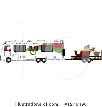 Royalty-Free (RF) Santa Clipart Illustration by djart - Stock Sample #1276496