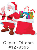 Royalty-Free (RF) Santa Clipart Illustration #1279595