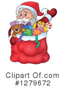 Royalty-Free (RF) Santa Clipart Illustration #1279672