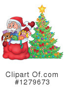 Royalty-Free (RF) Santa Clipart Illustration #1279673