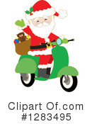 Royalty-Free (RF) Santa Clipart Illustration #1283495