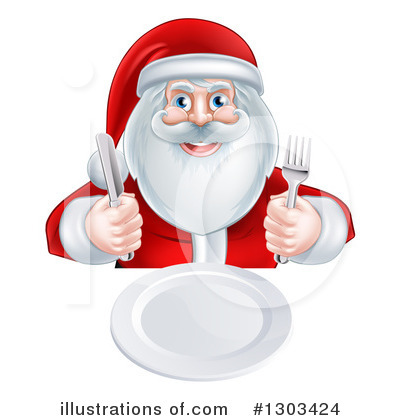 Santa Clipart #1303424 by AtStockIllustration