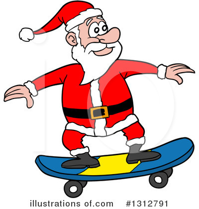 Royalty-Free (RF) Santa Clipart Illustration by LaffToon - Stock Sample #1312791