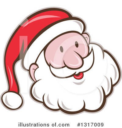 Royalty-Free (RF) Santa Clipart Illustration by patrimonio - Stock Sample #1317009
