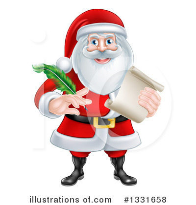 Santa Clipart #1331658 by AtStockIllustration