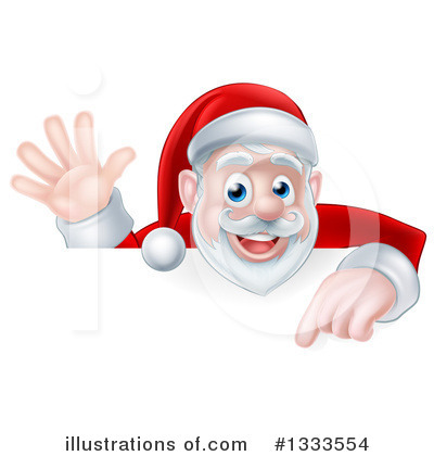 Royalty-Free (RF) Santa Clipart Illustration by AtStockIllustration - Stock Sample #1333554