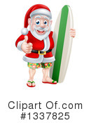 Santa Clipart #1337825 by AtStockIllustration