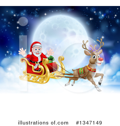 Royalty-Free (RF) Santa Clipart Illustration by AtStockIllustration - Stock Sample #1347149