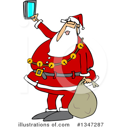 Royalty-Free (RF) Santa Clipart Illustration by djart - Stock Sample #1347287