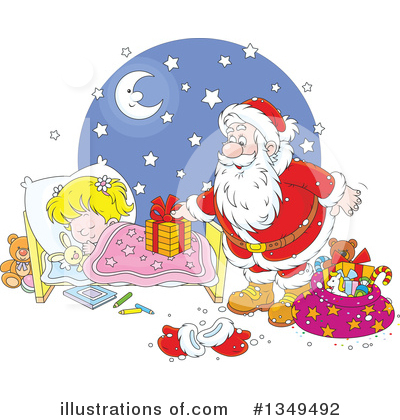 Santa Clipart #1349492 by Alex Bannykh