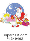 Royalty-Free (RF) Santa Clipart Illustration #1349492
