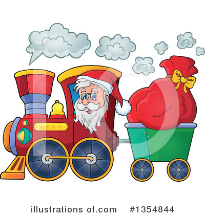 Royalty-Free (RF) Santa Clipart Illustration by visekart - Stock Sample #1354844