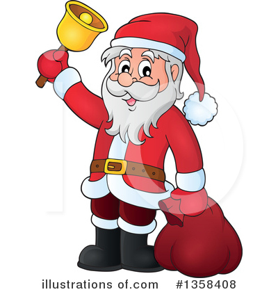 Royalty-Free (RF) Santa Clipart Illustration by visekart - Stock Sample #1358408