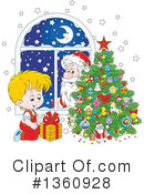 Santa Clipart #1360928 by Alex Bannykh