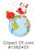 Royalty-Free (RF) Santa Clipart Illustration #1362403