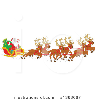 Christmas Clipart #1363667 by Alex Bannykh