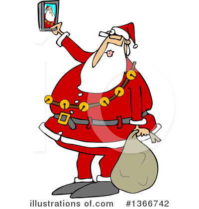 Royalty-Free (RF) Santa Clipart Illustration by djart - Stock Sample #1366742