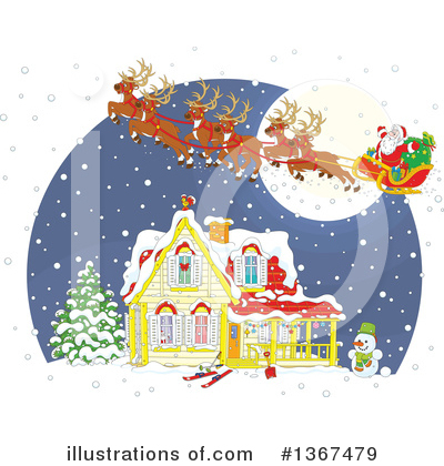 Christmas Clipart #1367479 by Alex Bannykh