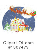 Royalty-Free (RF) Santa Clipart Illustration #1367479