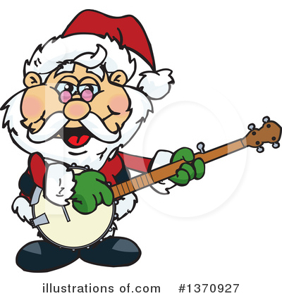 Royalty-Free (RF) Santa Clipart Illustration by Dennis Holmes Designs - Stock Sample #1370927