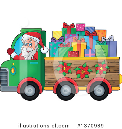 Royalty-Free (RF) Santa Clipart Illustration by visekart - Stock Sample #1370989