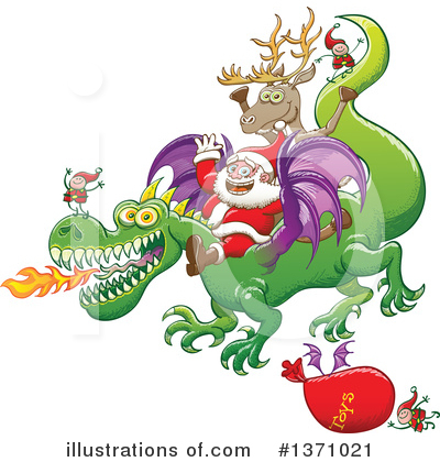 Royalty-Free (RF) Santa Clipart Illustration by Zooco - Stock Sample #1371021