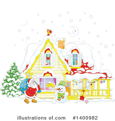 Royalty-Free (RF) Santa Clipart Illustration by Alex Bannykh - Stock Sample #1400982