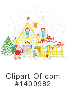 Royalty-Free (RF) Santa Clipart Illustration #1400982