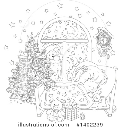 Sleeping Clipart #1402239 by Alex Bannykh
